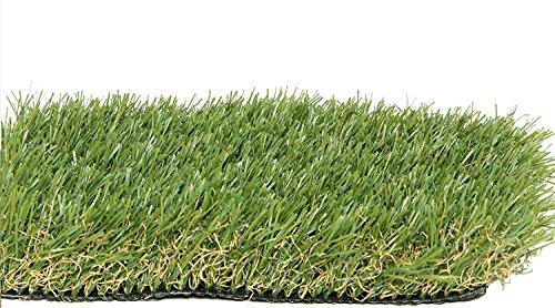 Zen Garden 5.5ft 5.5 ft x 6.5ft Artificial Patch 4-Tone Realistic Synthetic Grass Turf 6.5 35.7 sq, Green by Zen