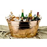 Copper 11-gallon Oval Bucket Ice Bucket Is Elegantly-designed for Both Aesthetic and Functional Appeal