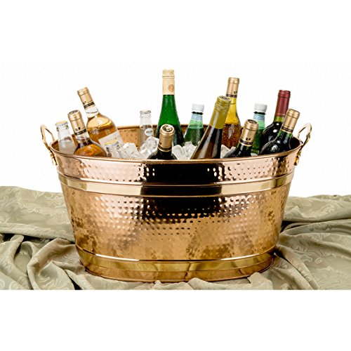 Copper 11-gallon Oval Bucket Ice Bucket Is Elegantly-designed for Both Aesthetic and Functional Appeal by Old Dutch