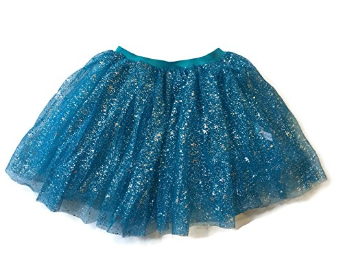 Rush Dance Ballerina Girls Dress-Up Sparkling Glitter Costume Recital Tutu (One Size, Turquoise) (Batman Costume Sydney)