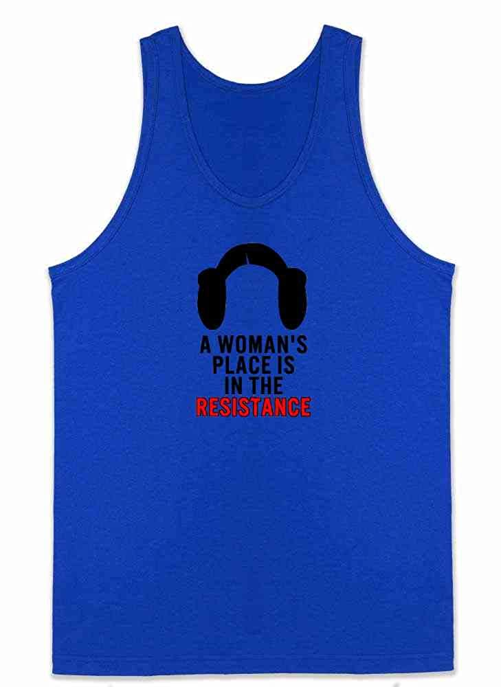A Womans Place is in The Resistance Feminist Mens Tank Top