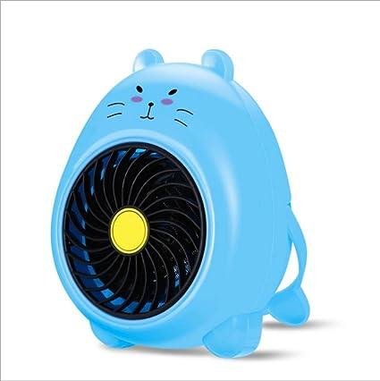 L&WB Mini Calentador Eléctrico Portable del Espacio, Calentador del Ventilador del Calentador del Escritorio De