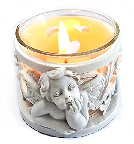 Baby Angel T Light Candle Stand 4 Inches (Bombay Nativity Set)