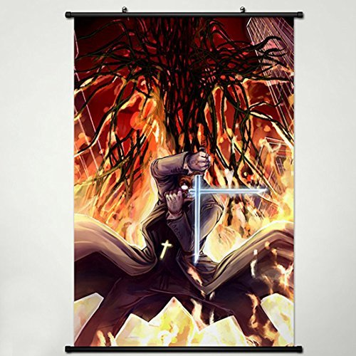 Hellsing Poster - Wall Scroll Poster Fabric Painting For Anime Hellsing Alexander Anderson 002 L