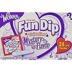 Wonka Lik-m-aid Fun Dip Valentine Mystery Flavor 24 Card Pouches