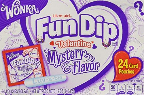 (Wonka Lik-m-aid Fun Dip Valentine Mystery Flavor 24 Card)