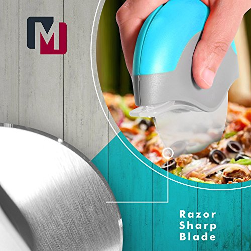Premium Pizza Cutter Wheel Stainless Steel, Easy to clean, Razor Sharp with Protective Blade Guard from Mozzbi by Mozzbi (Image #2)