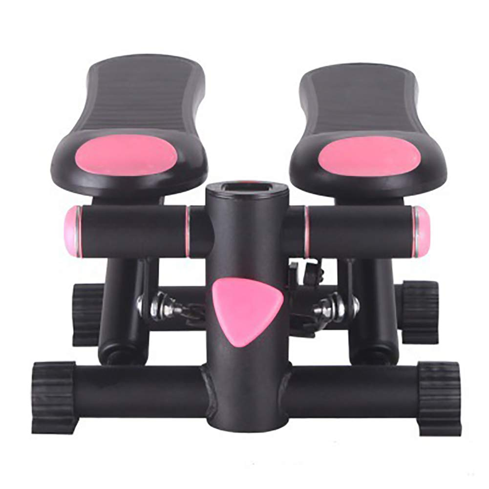 black pink TKLLOVE Mini Stepper,Sports Steppers for Excerise Mini Stepper Professional Stepper Drawstrings Training Bands Exercise Equipment for Home and Office-Massage Design