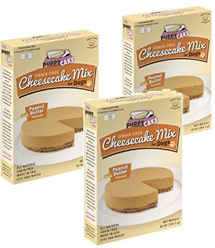 Peanut Cheesecake (Puppy Cake Grain-Free Cheesecake Mix - Peanut Butter 11oz (3 Pack))