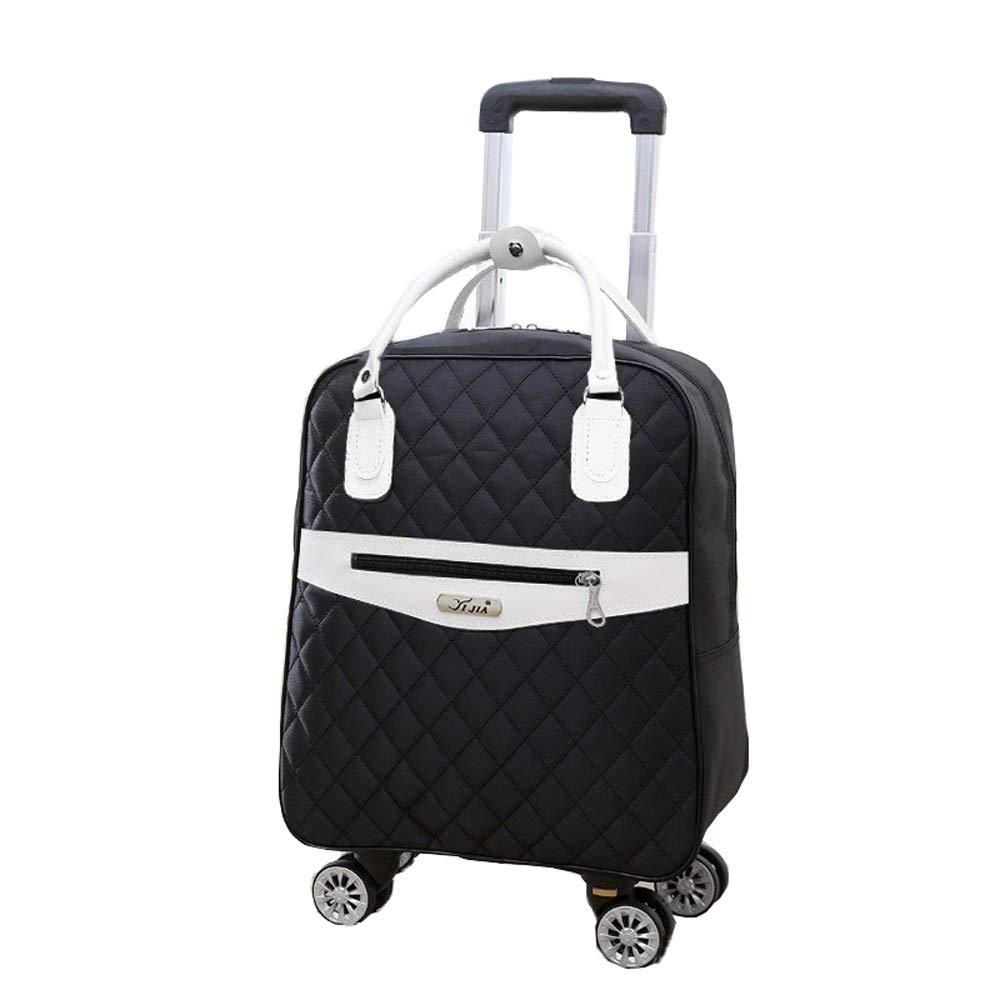 折りたたみ荷物バッグ、ユニバーサルホイールトロリーバッグ、女性搭乗、軽量防水トラベルトラベルバッグ、男性バックパック (Color : Black 1, Size : 20 inch) B07SNX1FP3 Black 1 20 inch