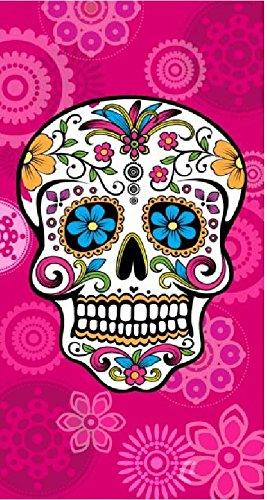 Serviette Plage Tete De Mort.The Best Fashion House Serviette De Plage Motif Tete De Mort Mexicaine 100 Coton 95 X 175 Cm Fuchsia