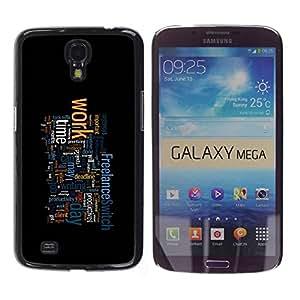 Paccase / SLIM PC / Aliminium Casa Carcasa Funda Case Cover para - Motivational Typography - Samsung Galaxy Mega 6.3 I9200 SGH-i527