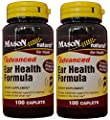 Mason Natural Advance Ear Health Formula Bioflavonoids Plus 100 Caplets per Bottle Pack of 2 Total 200 Caplets