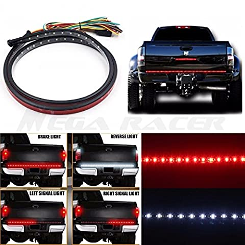 60 inch Truck SUV Tailgate Red White LED Signal Running Reverse Back Up Brake Lamp Light Strip Bar US Trailer RV (1998 Dodge Ram Brake Lights)