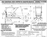 Vestil D-33-MD-YEL Self-Dump MD Hopper, 0.33