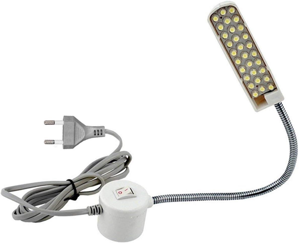Super brillante 30 Cuentas de lámpara Máquina de coser Ropa de luz Luz de trabajo en el hogar Lámpara Accesorios de la máquina de coser