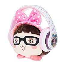 Meki Over Ear Headphones Corded Headset with Microphone and Volume Control Noise Isolation Headsets with Detachable Cable for iPhone Android Cellphones ,MP3 ,Laptop,Tablet (Hello Caicai )
