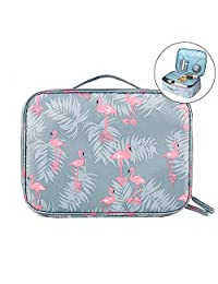 JSBelle Organizador de bolsas de cosméticos de viaje portátil, bolsas de aseo para mujeres (Azul)