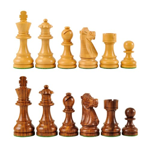 Wholesale Chess French Style Sheesham Wood Chess Pieces - 3.75