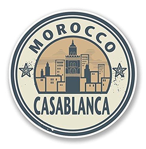 3 Pack - Morocco Casablanca Vinyl SELF ADHESIVE STICKER Decal - Sticker Graphic - Construction Toolbox, Hardhat, Lunchbox, Helmet, Mechanic, Luggage