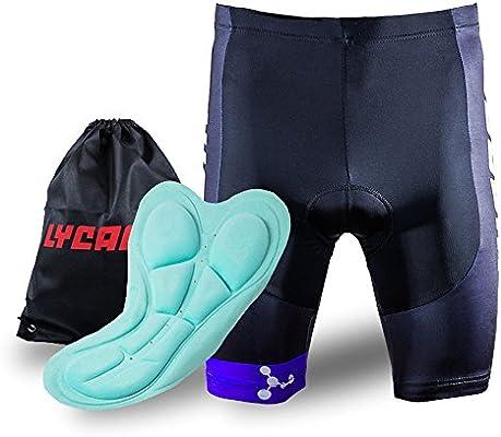 LYCAON Pantalones Cortos de Bicicleta 3D Pantalones Cortos de ...