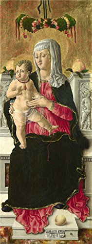 Famous Costume Theatre Designer ('Giorgio Schiavone The Virgin And Child Enthroned ' Oil Painting, 18 X 48 Inch / 46 X 121 Cm ,printed On High Quality Polyster Canvas ,this Reproductions Art Decorative Prints)