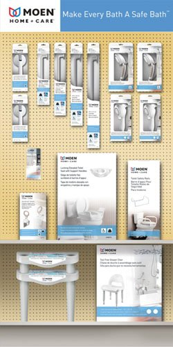 Amazon com: Moen Home Care Bath Display Planogram: Health & Personal
