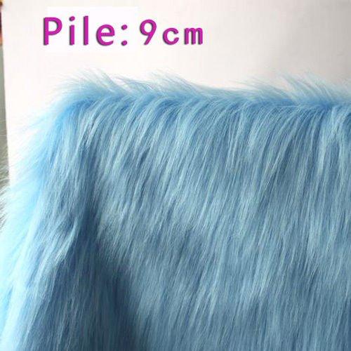 FidgetKute Sky blue SHAGGY FAUX FUR FABRIC LONG PILE FUR costumes photo backdrops 60