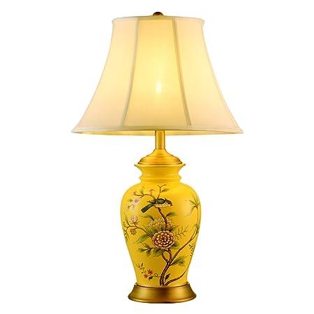 ZNND Lámpara de Mesa de cerámica China, lámpara de cabecera de la ...