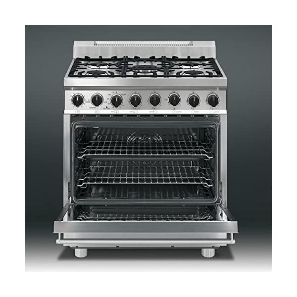 """Smeg C30GGXU1 30"""" Free Standing Gas Range with 5 Gas Burners and 3 Cooking Modes, Stainless Steel 3"""