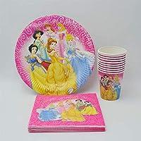 40 Unids/Set Fuentes De Fiesta Ariel/Blancanieves/Belle/Cenicienta/Aurora Princess Birthday