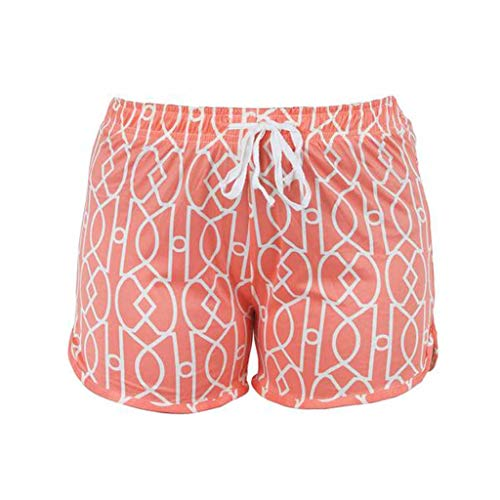 - Hello Mello Leisure Time Lounge Shorts (Calming Coral, Medium/Large)