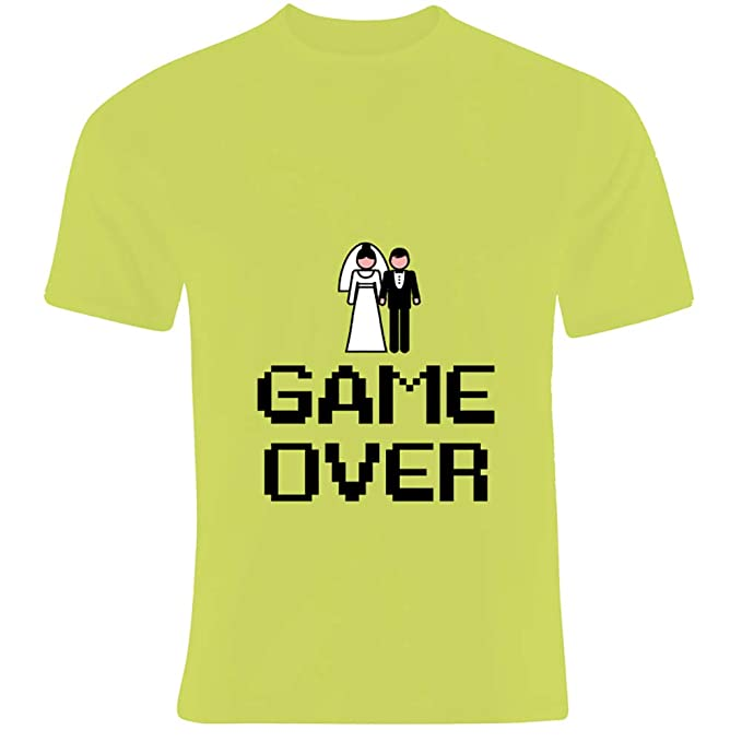 Regalo para Despedida de Soltero: Camiseta Game Over para Regalar al Novio (