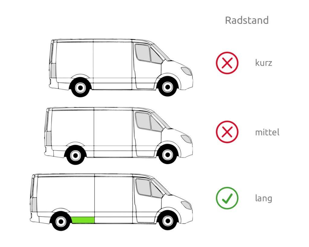 Radlauf Hinten Rechts für VW LT 28-35 II LT 28-46 II MERCEDES SPRINTER