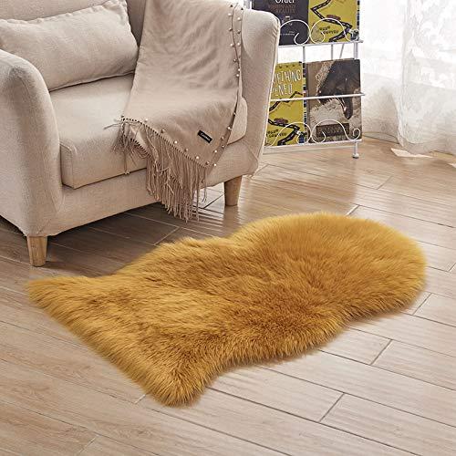 Amazon.com: 2018 Long Hairy Carpet Faux Sheepskin Rug Home ...