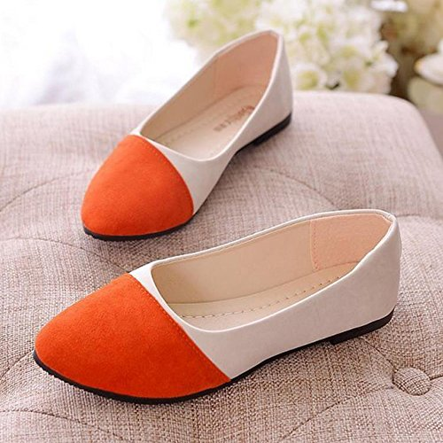 Ballet Pointed Flats Driving Loafers Slip-on Pointy Toe Girl's Women's Shoes Comfort Multicolor Classic