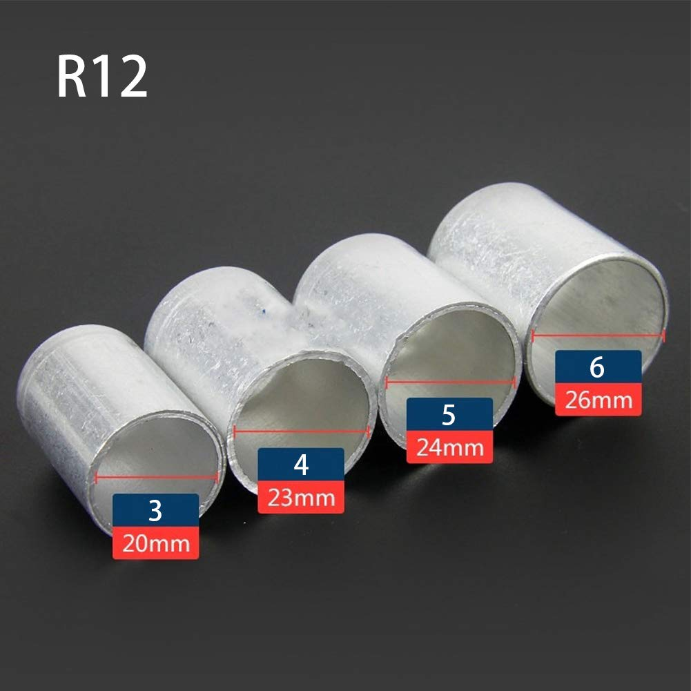 25 piezas de conectores de manguera de aire acondicionado para coche de aluminio crimpado extra/íble est/ándar r12-3-20mm As Picture Show