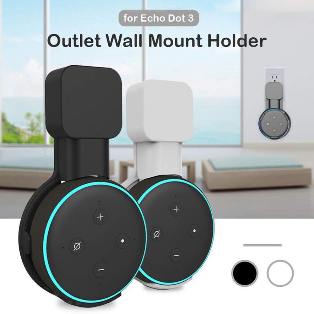 Wall Mount Hanger Holder for Echo Dot Black 3rd Gen - Compact Case Smart Speaker Alexa Stand Bracket Wall Socket for  Dot 3rd Generation