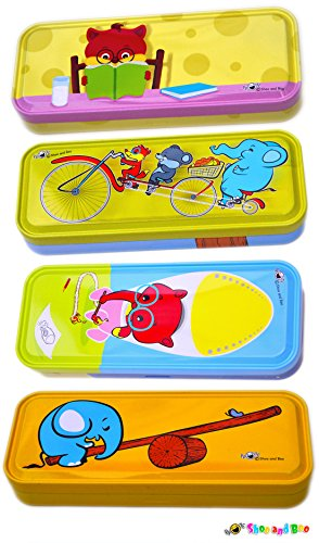 Shoo and Boo - My Animal Friends Double Deck Metal Pencil Box (Set of Four Amazing Themes) (Pencil Double Box Deck)