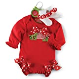 Present Ruffle Crawler and Socks Set by Mud Pie