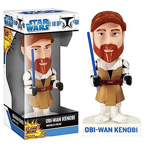 Wacky Wobbler OBI-WAN Kenobi Clone Wars Cabezon PVC APPR 16cm de Fu