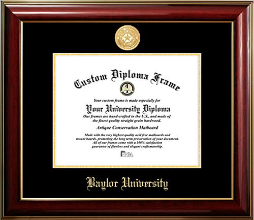 Baylor University 22K Gold Medallion Diploma Frame (11 X ()