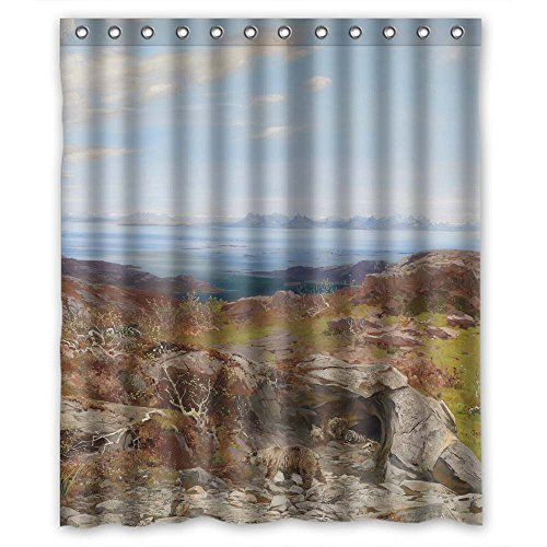 - Eyeselect Bath Curtains Of Beautiful Scenery Landscape Art Painting Polyester Width X Height / 60 X 72 Inches / W H 150 By 180 Cm Best Fit For Bf Boys Valentine Custom Her. Healthy. Fabr