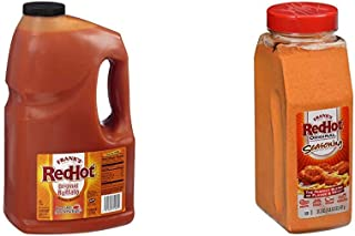 product image for Frank's RedHot Original Buffalo Wings Sauce, 1 gal with Frank's RedHot Orginal Seasoning, 21.2 oz