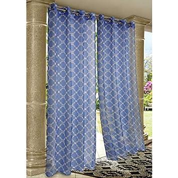 Amazon Com Wrought Iron Print Indoor Outdoor Grommet Curtain