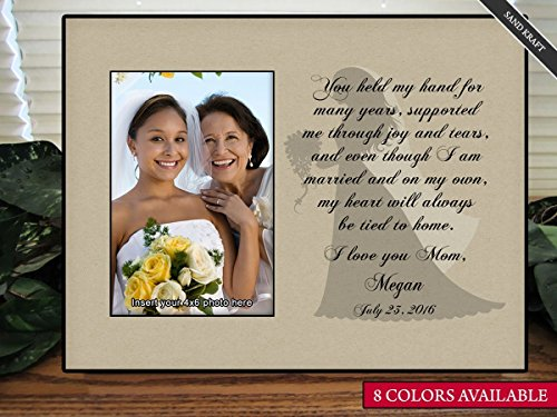 Personalize Mother of the Bride You Held My Hand Picture Frame