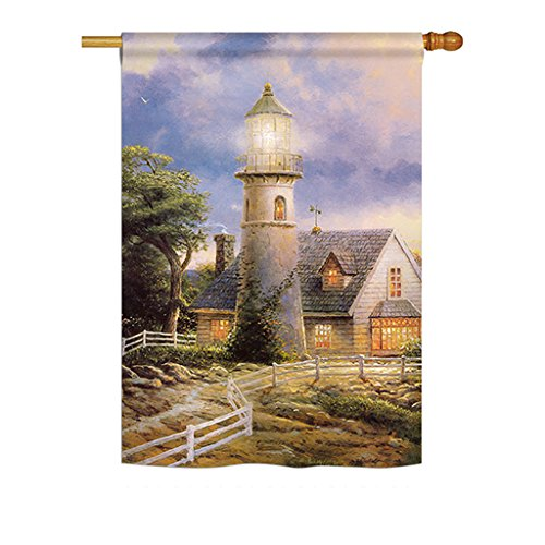 Ornament Collection H191074-BO Warm Lighthouse Coastal Nautical Impressions Decorative Vertical 28