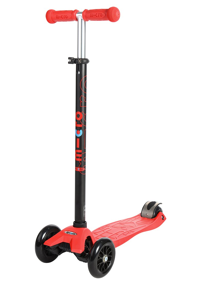 Micro Maxi Kick Scooter - Red with T-bar by Micro Kickboard