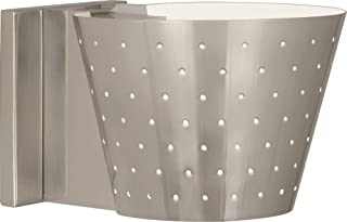 product image for Robert Abbey S982 Pierce - One Light Wall Sconce, Antique Silver Finish with Perforated Metal Shade