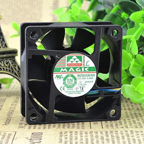 New original MAGIC MGT6012UB-W25 DC12V 0.38A 6025 60 60 25mm four-wire double ball fan